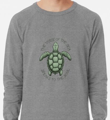The Voice of the Sea Speaks to the Soul Lightweight Sweatshirt