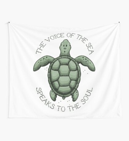 The Voice of the Sea Speaks to the Soul Wall Tapestry