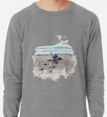 Baby Sea Turtle Waling - Watercolor  Lightweight Sweatshirt