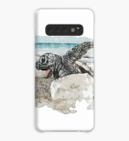 Baby Sea Turtle Hatching - Watercolor Case/Skin for Samsung Galaxy