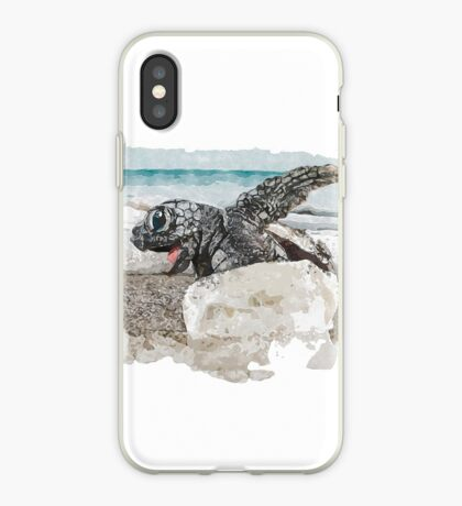 Baby Sea Turtle Hatching - Watercolor iPhone Case
