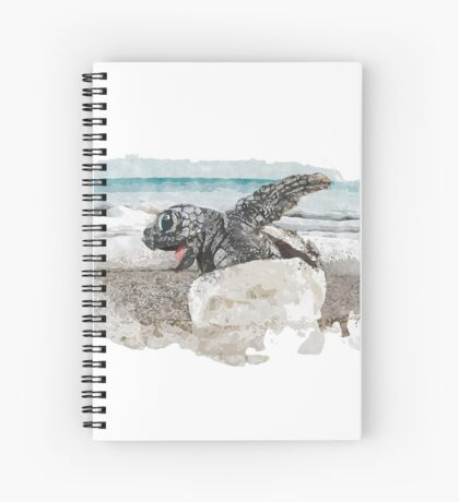 Baby Sea Turtle Hatching - Watercolor Spiral Notebook