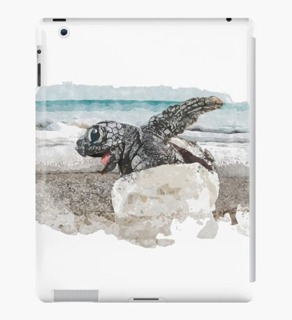 Baby Sea Turtle Hatching - Watercolor iPad Case/Skin