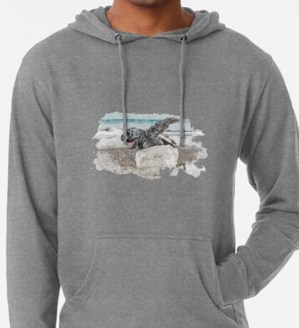 Baby Sea Turtle Hatching - Watercolor Lightweight Hoodie