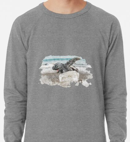 Baby Sea Turtle Hatching - Watercolor Lightweight Sweatshirt