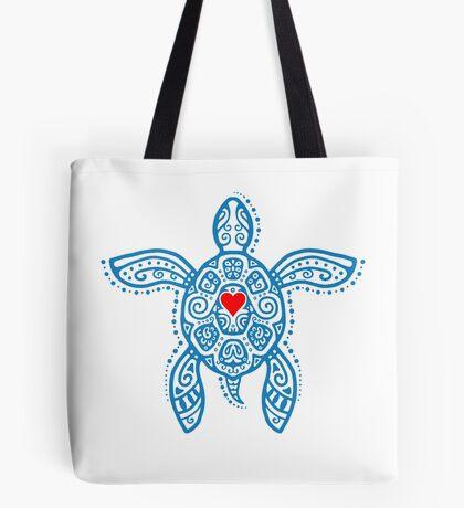 Sea Turtle Hope - Tribal Tote Bag