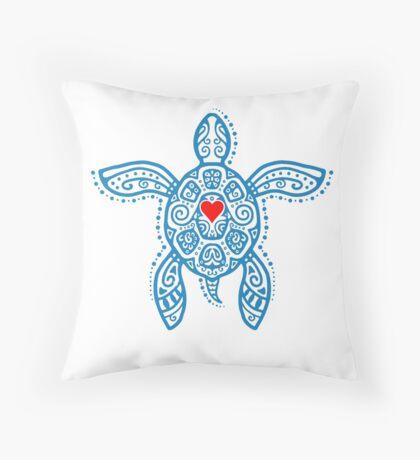 Sea Turtle Hope - Tribal Throw Pillow