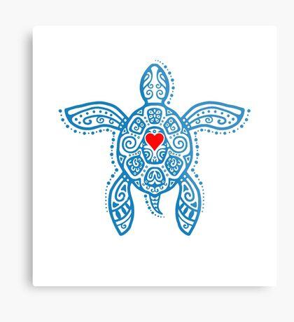 Sea Turtle Hope - Tribal Metal Print