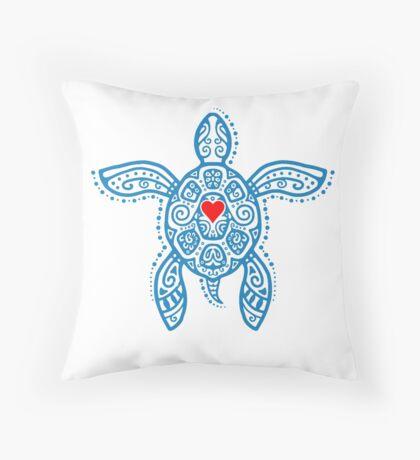 Sea Turtle Hope - Tribal Floor Pillow