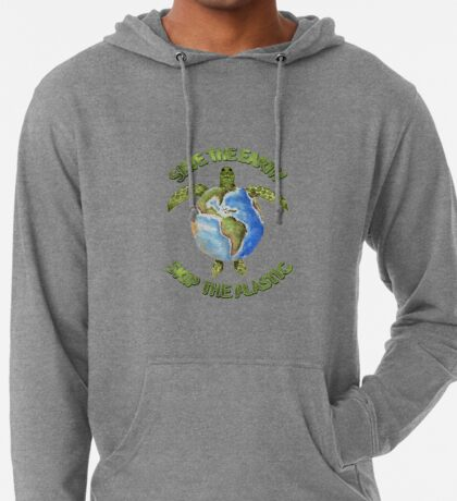 Save the Earth Skip the Plastic Lightweight Hoodie