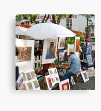 Artists production line - Montmartre, Paris Canvas Print