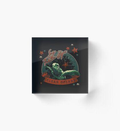 Sea Turtle Hope - Vintage Pop Acrylic Block