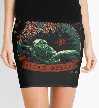Sea Turtle Hope - Vintage Pop Mini Skirt