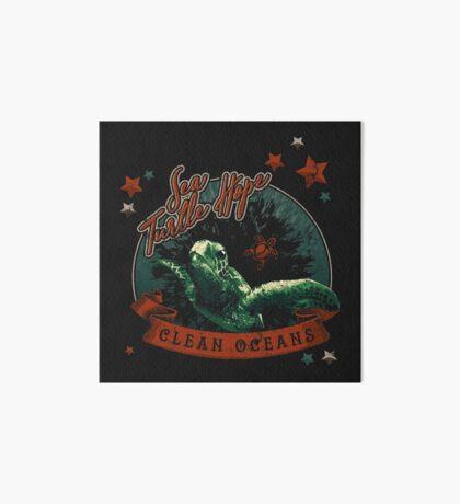 Sea Turtle Hope - Vintage Pop Art Board Print