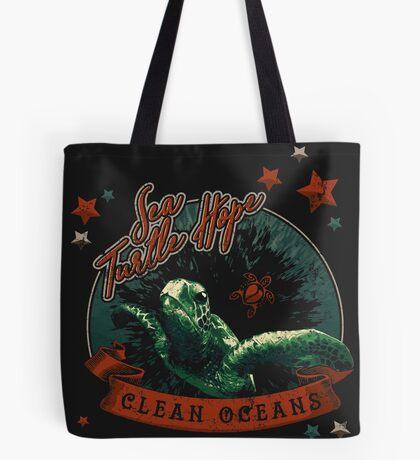 Sea Turtle Hope - Vintage Pop Tote Bag