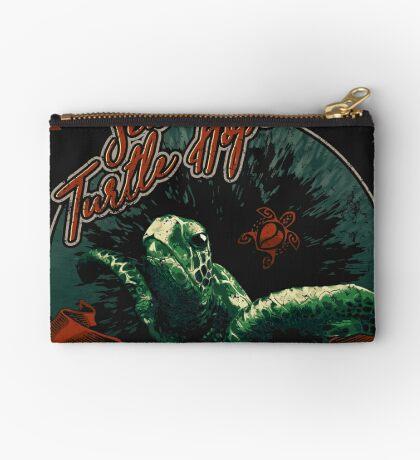 Sea Turtle Hope - Vintage Pop Zipper Pouch