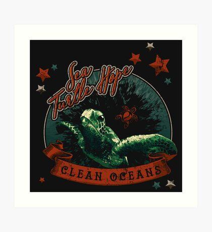 Sea Turtle Hope - Vintage Pop Art Print