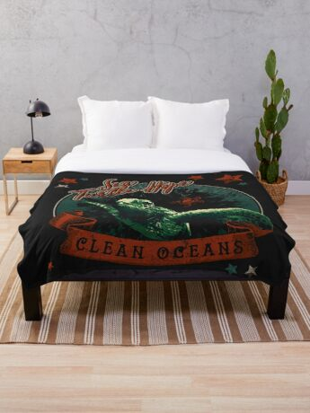 Sea Turtle Hope - Vintage Pop Throw Blanket