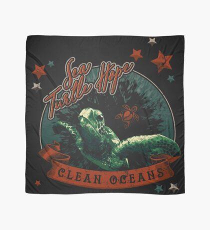 Sea Turtle Hope - Vintage Pop Scarf