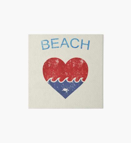 Beach LOVE  Art Board Print