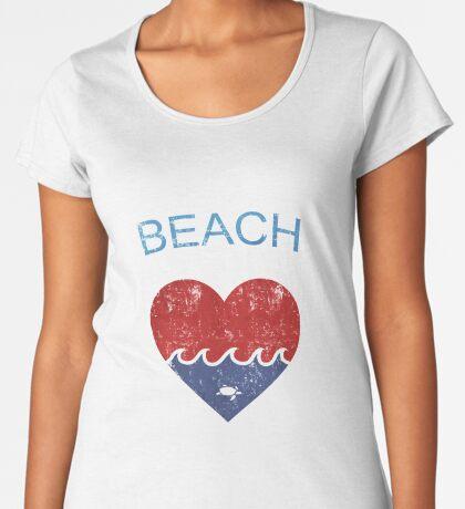 Beach LOVE  Premium Scoop T-Shirt