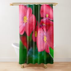 Pink Tropical Floral Shower Curtain