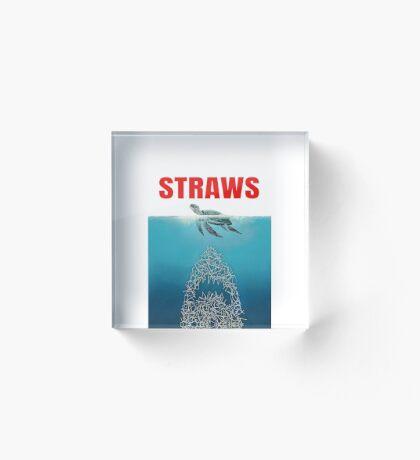 Straws - Vintage Acrylic Block