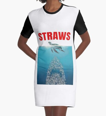Straws - Vintage Graphic T-Shirt Dress