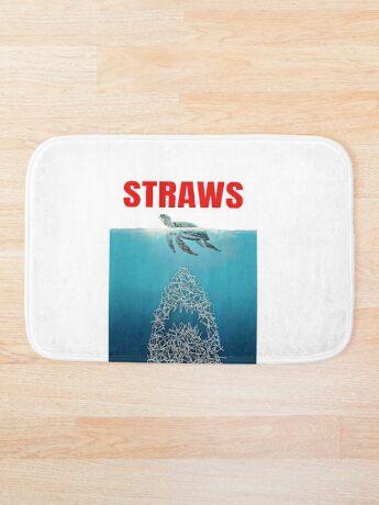 Straws - Vintage Bath Mat