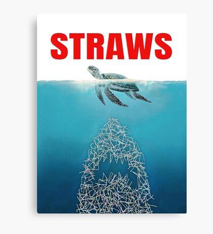 Straws - Vintage Canvas Print