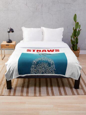 Straws - Vintage Throw Blanket