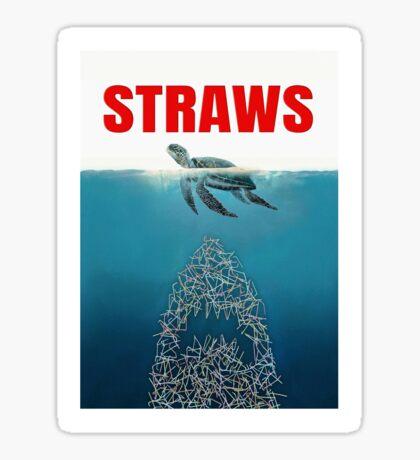 Straws - Vintage Sticker