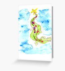 Christmas Croc - Cliff Greeting Card