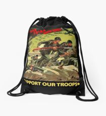 Army - Iran - China - N Korea - Support Our Troops Drawstring Bag