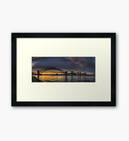 North Shore Looking East - Sydney Harbour, Sydney Australia Framed Print