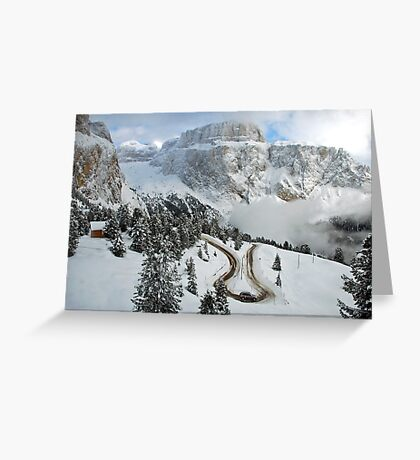 Wintry curve Greeting Card