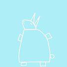 The green rabbit (outline white) by Pekka Nikrus