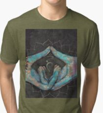 Vishuddha - throat chakra mudra  Tri-blend T-Shirt