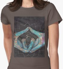 Vishuddha - throat chakra mudra  Women's Fitted T-Shirt