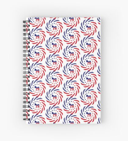 Democratic Murican Patriot Flag Series Spiral Notebook