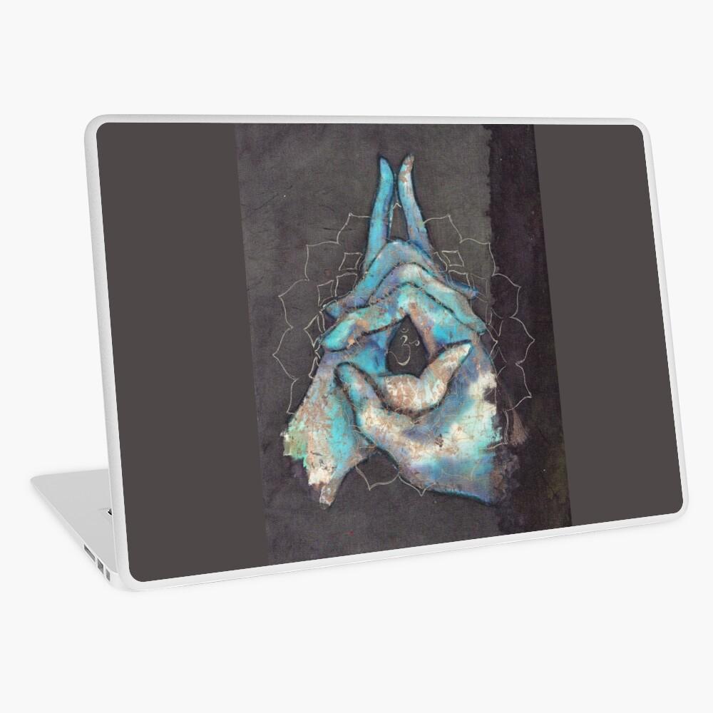 crown chakra mudra   Laptop Skin
