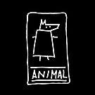Animal (outline white) by Pekka Nikrus