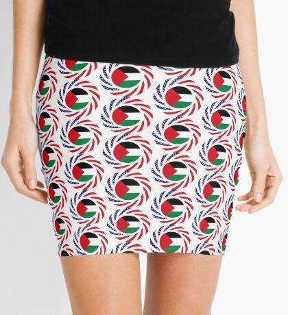 Palestinian American Multinational Patriot Flag Series Mini Skirt