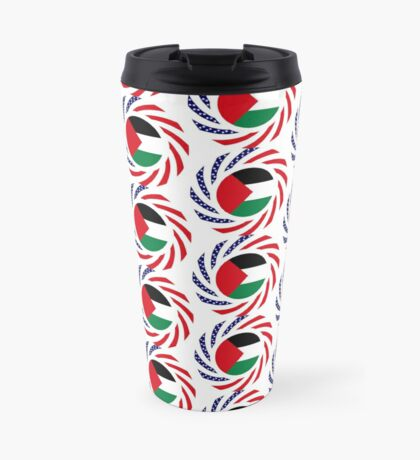 Palestinian American Multinational Patriot Flag Series Travel Mug