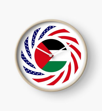 Palestinian American Multinational Patriot Flag Series Clock