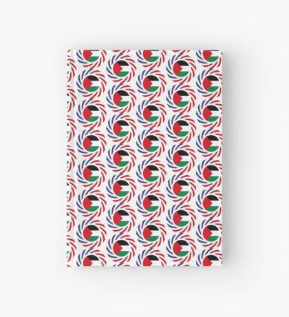 Palestinian American Multinational Patriot Flag Series Hardcover Journal