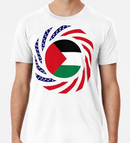 Palestinian American Multinational Patriot Flag Series Premium T-Shirt