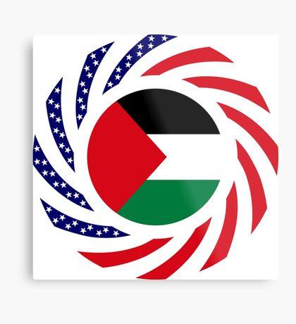 Palestinian American Multinational Patriot Flag Series Metal Print