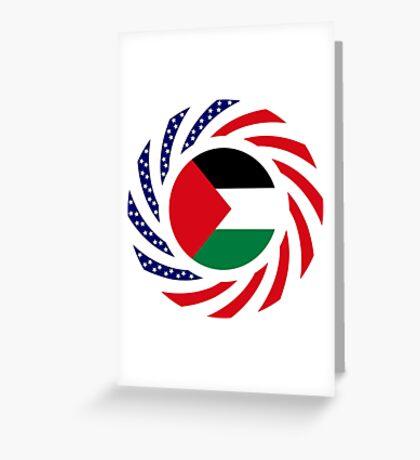 Palestinian American Multinational Patriot Flag Series Greeting Card