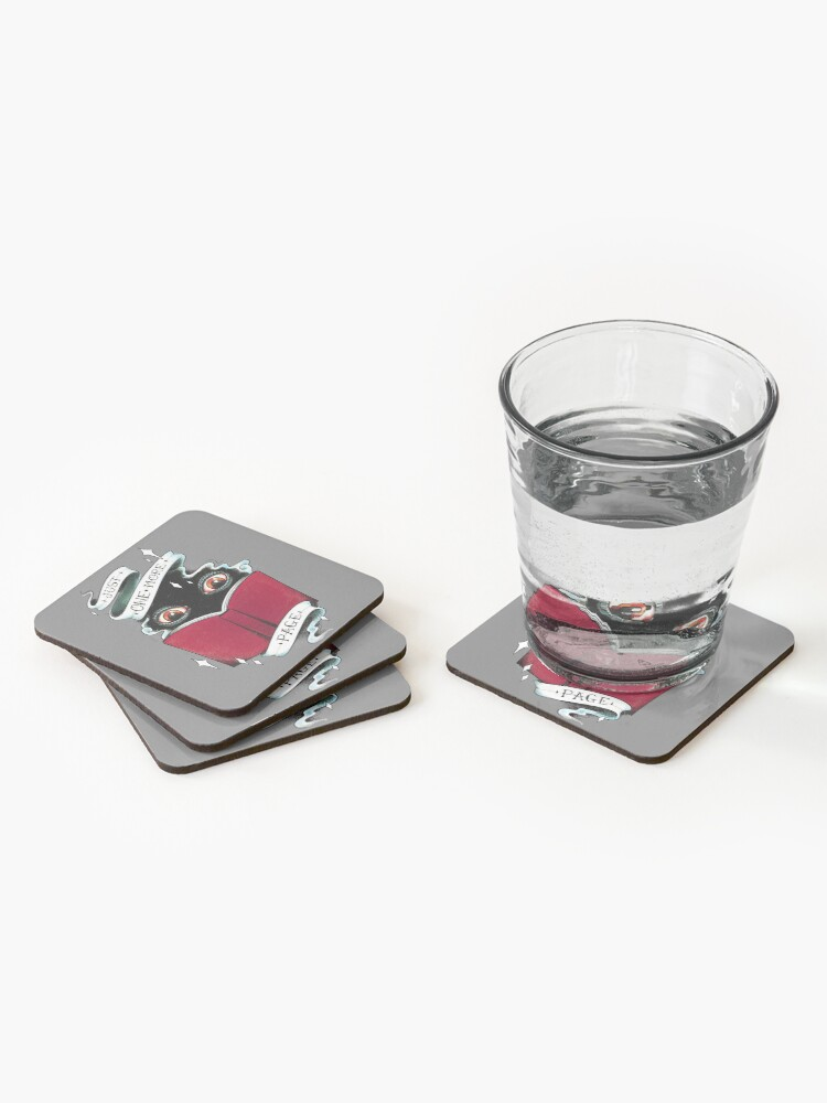 Alternate view of One More Page Coasters (Set of 4)